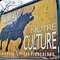 Le taureau s'affiche dans le midi de la france