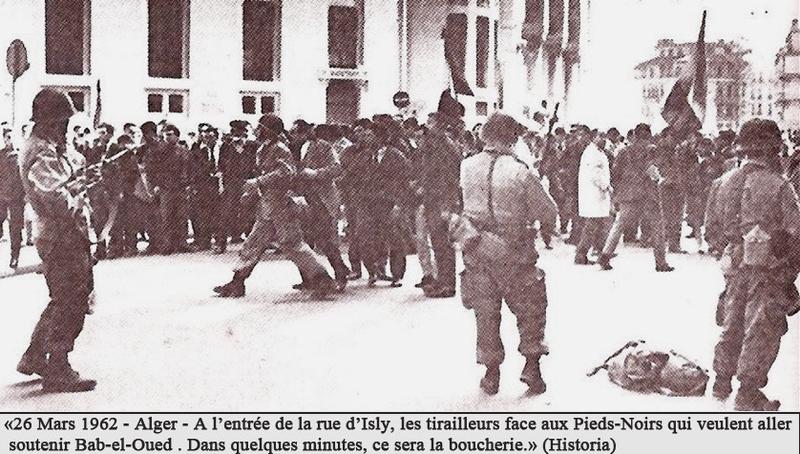entrée rue d'Isly, 26 mars 1962, barrage