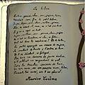 Gâteau livre poème Le Hibou Maurice carême détail