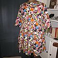 Robe RAYMONDE en coton imprimé Je Vous ai Apporté des Bonbons, manches 3 quart - taille 40 (2)