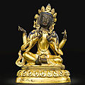 A gilt-bronze figure of a bodhisattva, qing dynasty, 18th century