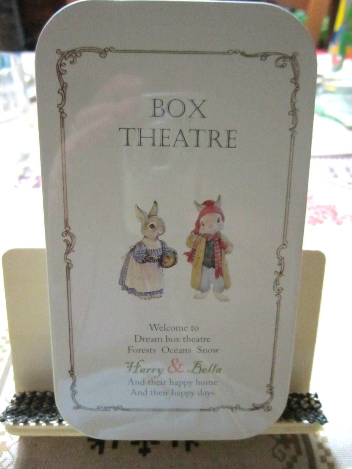 Scène dans mini-boite (Box Théâtre)
