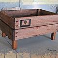 Caisse en bois rustique
