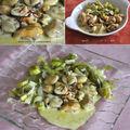 Moules safranées et fondue de poireaux **