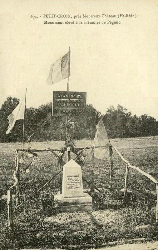 CPA Petit-Croix Petite stèle