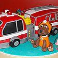 Le camion de pompiers de la paw patrol