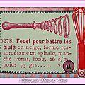 Echange ATC Chez Miou Lettre U (Ustensile) Mimi pour Marie de Clessé