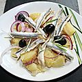 Salade nord-sud (rattes-anchois)