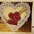 Carte saint valentin cœurs entrelacé