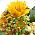 BOUQUETDE MARIEE AUX TOURNESOLS CREATION Brigitte