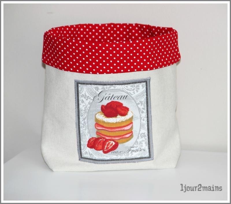 panière gateau fraise