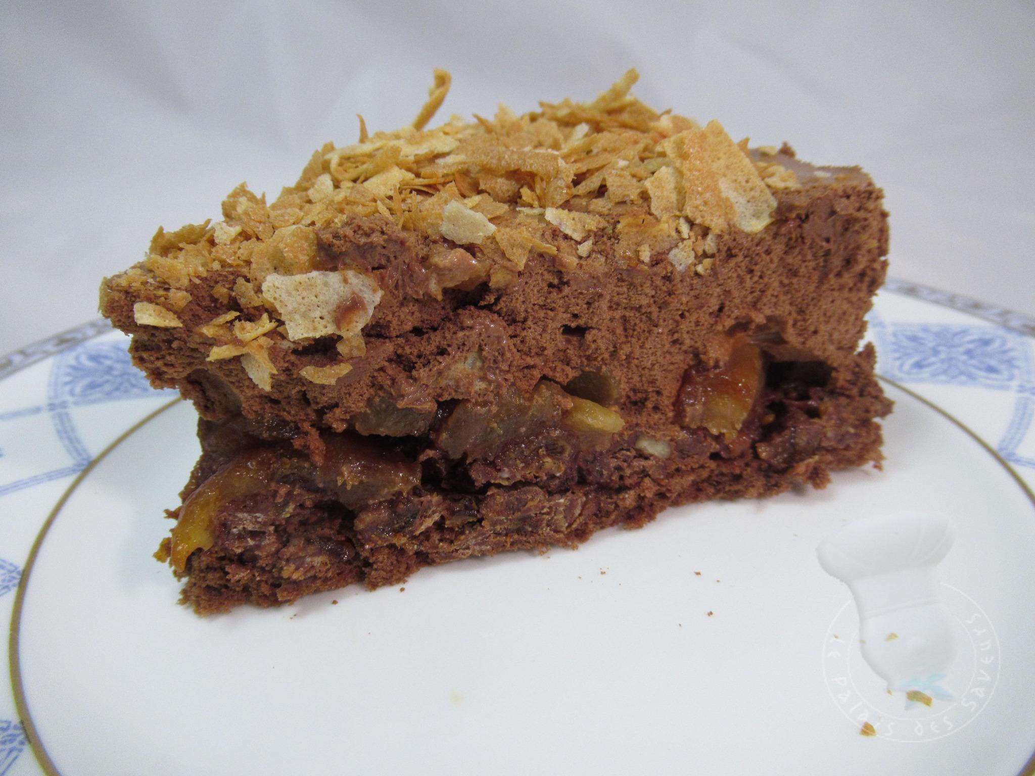 Gâteau croustifondant chocolat poires