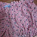Culotte BIANCA en coton rose et bleu - noeud gros-grain ciel (1)