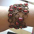 bracelet free form wire loops porté