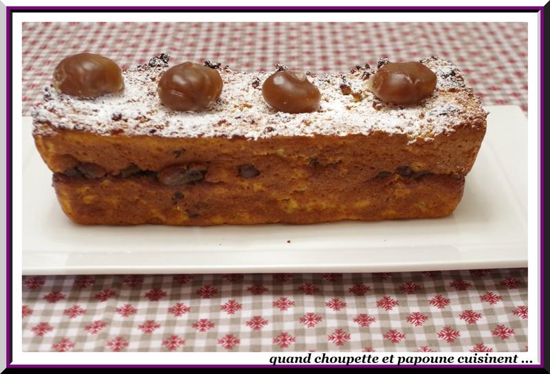 Pudding de pain perdu aux marrons glacés, crème anglaise à la châtaigne-6564
