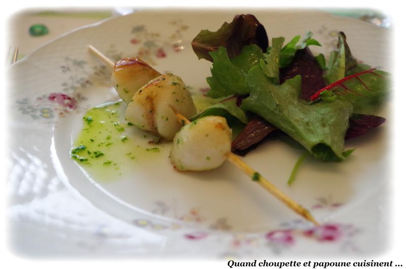 coquilles saint-jacques sur lit de salade-9113