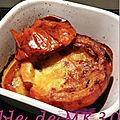 Potimarron farci lardons, reblochon, champignons et oignon