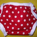 rouge & pois blancs