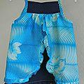 Robe marine et turquoise, défi cap ou pas cap