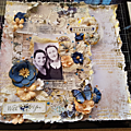 Page en bleu et or by corinne