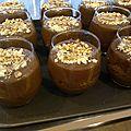 Mousse au chocolat aux éclats de noisettes torréfiées