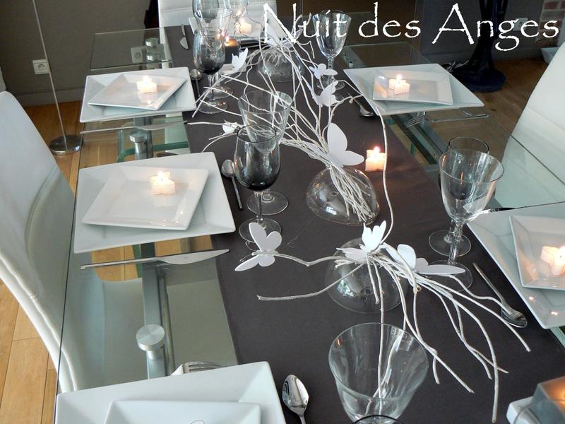 Nuit des anges décoratrice de mariage décoration de table papillons 005