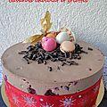 Bavarois chocolat et griottes