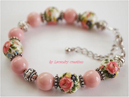bracelet perle tensha japonaise et nacre rose lacaudry creation juin 2013