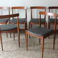 Lot 6 chaises danoises 60's