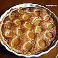 Tarte oreillons d'abricots-crème d'amandes