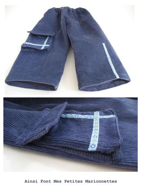 pantalon velours bleu gabin 2