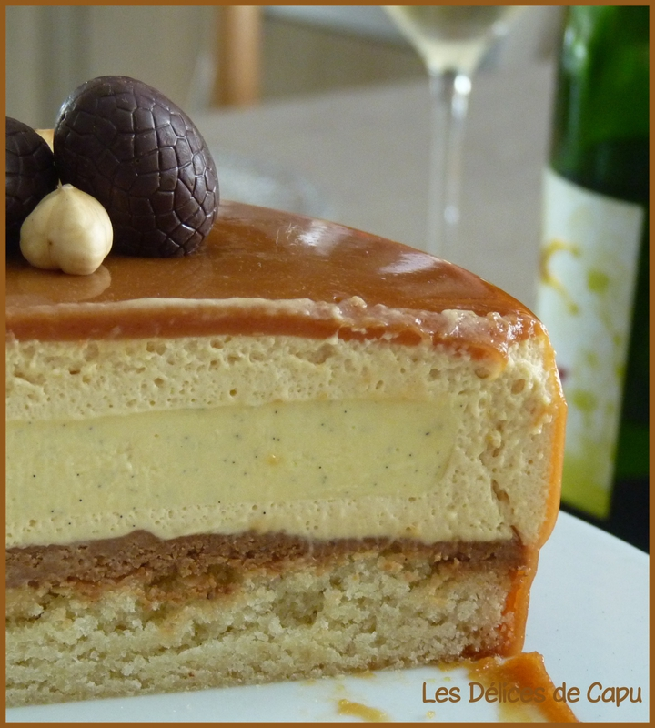 Entremets vanille carame2