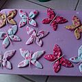 broches papillons