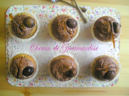 Cupckes chataigne & chantilly chocolat spéculoos (1)