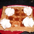 Gaufre a la creme de caramel au beurre sale