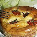 Quiche sans pâte aux ravioles et tomates cerises