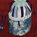 Pochon Dame valiste version bleu noel 2010