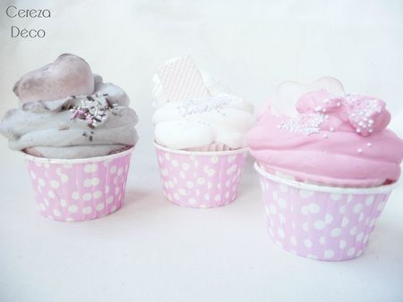 cupcakes sweet table cereza deco rose