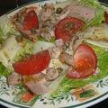 Salade de poulet au fol epi et câpres