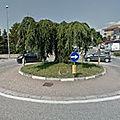 Rond-point à leini (italie)