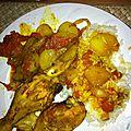 Pilons de poulet aux rondelles de pomme de terre et tomate confites!