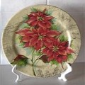 Assiette poinsettia / Poinsettia plate