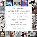 Vente à Nantes le 20 novembre Laetitia de La Boussinière - Bijoux et Zouaves & Chipette