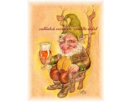 maître nain et sa bière calhaloü