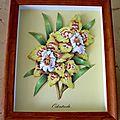 tableau en 3D fleurs jaunes-2008-offert à Gaby à Noël 2008