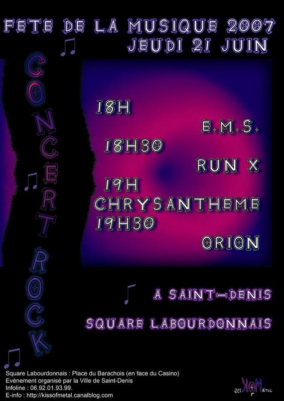 Fête de la Musique 2007 Saint-Denis (Affiche concert)