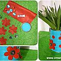 .·´¯`✿ vase pop recyclé / recycled pop vase ·.✿.·´¯)