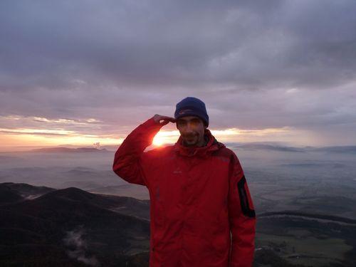 2009 11 12 Cyril dans le vercors au coucher du soleil au 'Le Ray'