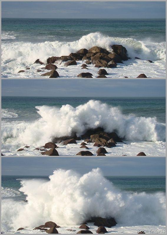 vague sur les rochers 1