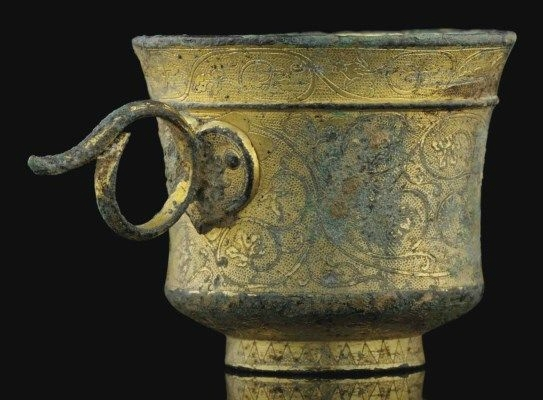 A very rare small gilt-bronze cup, Tang dynasty (618-907)